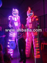 stilt walker led robot suits; LED dance costume; led suit.