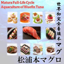 Matsuura bluefin tuna is a luxury food I want to eating a nice marble dining table.