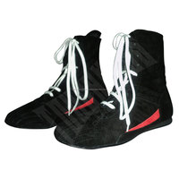 Hi-Top Leather Boxing Shoes / Custom Boxing Boots / Men's Full Long Boxing Shoes
