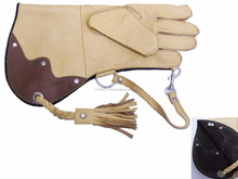 Falconry Glove Single skin cowhide cream and chocolate./NEW Suede Right Hand Falconry Glove (Fleece Lined) Falconry Glove