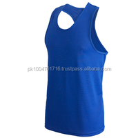 Boxing Vest & Short Made of Polyester with Customized logo 4 Colors: Blue, Red, White & Black