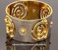 Chapado en oro de exportación CNC brazaletes de latón suministro fabricante