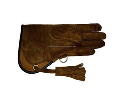 Children Nubuck Leather Glove 2 Layers Double Skinned Falconry Child /Eagle Gloves/ Falconry Glove/100% pure cowhide,sudeleather