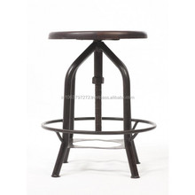 Revolving Stool with Iron Base and Nickle Coating