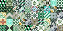 Encaustic cement tiles CTS Patchwork Green