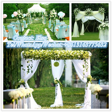 RK outdoor pipe drape booth pipe and drape for weddings with high quality chiffon drape