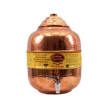 Pure Copper 8 ltr. Water Pot Storage Tank With Tap Kitchen Home Garden Health Ayurveda