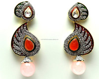 American Diamond Fancy Gemstone Earrings, Fancy Jewellery Collection, Imitation Designer Jewellery