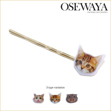 hair stick pins with popular and unique cat face charm
