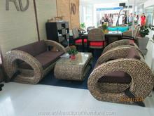 AD Furniture Corp - Water Hyacinth Sofa Set at Vifa Fair in year 2015