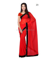 Indian Saree Online Shopping India \ Plain Saree Work Border
