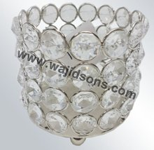Gaudy crystal votive for decoration and embellish for all kinds of festival
