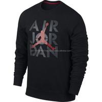 Black Air Jordan Sweatshirt/ Custom sweatshirt USA styles made by Pakistan