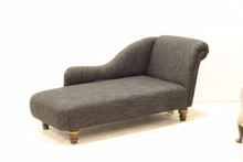 Chaise Longue, Large - Cotton Weave, Made in Great Britain