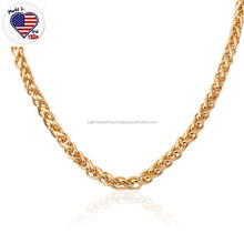 Factory Price Stainless Steel Long Chain Men's Gold Filled Necklace