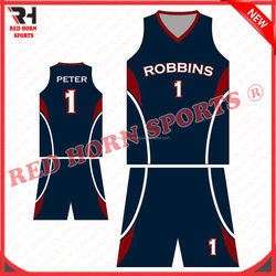 Red Horn Basketball Anti-Bacterial Uniform, Custom Designs and Logos are Accepted