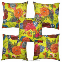 Indian Hand embroidered cotton square shape cushion covers