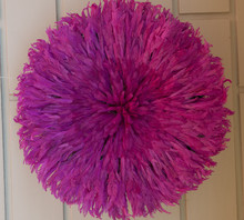 Juju Feather Hat, Pink, Cameroon, Beautiful High Quality