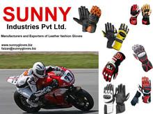 Motorbike gloves / racing gloves / motorcycle riding gloves ,Black & Gunmetal Grey Kevlar Vented