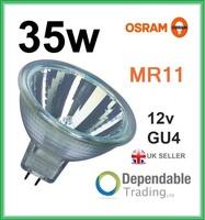 OSRAM MR11 35w Halogen Spotlight / Lamp 12v - GU4 - 35mm - Light Bulb