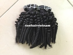 New product curlt hair double twice machine weft very strong soft and silky hair