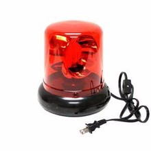Red Spinning Police Beacon Light