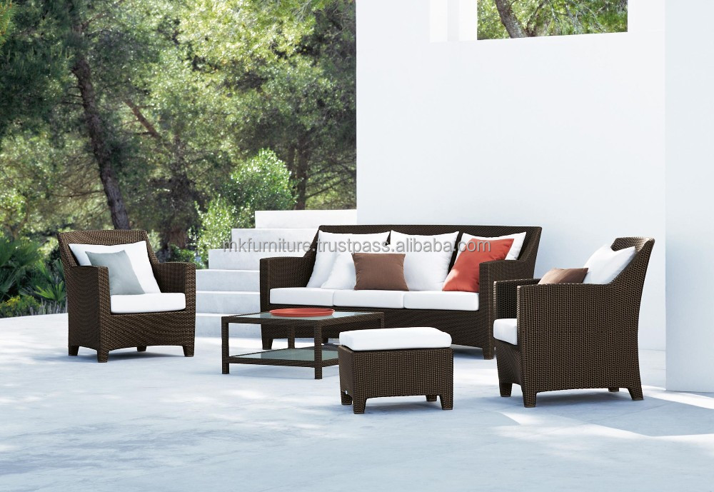 manchester wicker garden sofa set furniture poly rattan. Black Bedroom Furniture Sets. Home Design Ideas