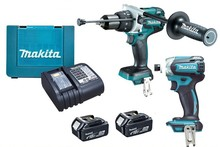 Clearance SALE! Original Makita power tools LXT1500 18-Volt LXT Lithium-Ion Cordless 15-Piece makita Combo Kit