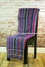 Vintage Kantha Art Bedding Reversible Throw Ralli Gudri Handmade Cotton Tapestery Bohemian Home Decorative Cotton Blanket