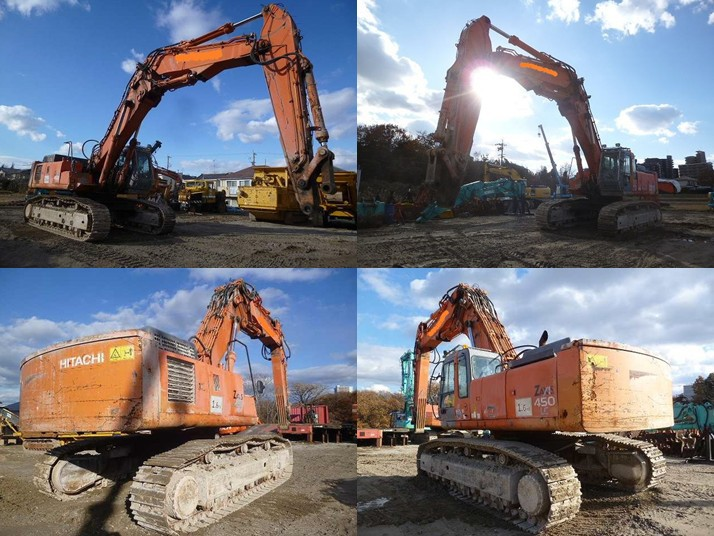 Used Japanese Excavator Hitachi Zaxis 450lc Sales / For ...