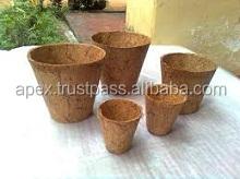 Biodegradable Coir Planter Pot for Home Gardening