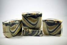 Turmeric powder, green beans, bamboo charcoal smell of peppermint Cold Process Natural Handmade Soap 100g