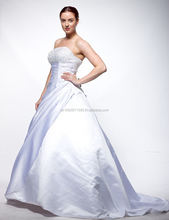 tw16 wedding dress ,beading strapless with train long dress for bride