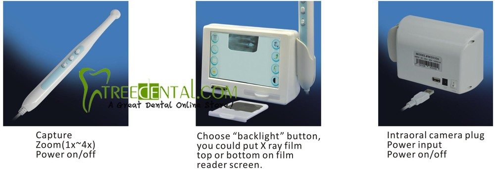 MD310 New 3 in 1 Function Dental Intraoral Camera, X ray Film Reader and Backlight MD310 Original dental film reader