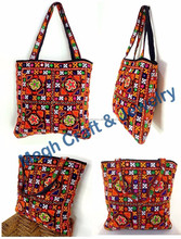 Handmade designer bag-Wholesale embroidery work handbags-resham & mirror work ethnic bags -ladies fashion designer Purse 2015