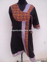 Diseños del vestido Anarkali Screen Printed Cotton Dresses / nuevo atractivo diseñador Anarkali para la mujer
