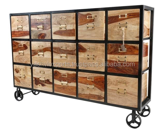 Muebles de hierro y madera cmo distinguir un mueble de - Muebles de madera y hierro ...