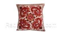RTHCC-92 Gujarati Suzani Handmade Square Shape Cushion Pillow Covers Manufacturs