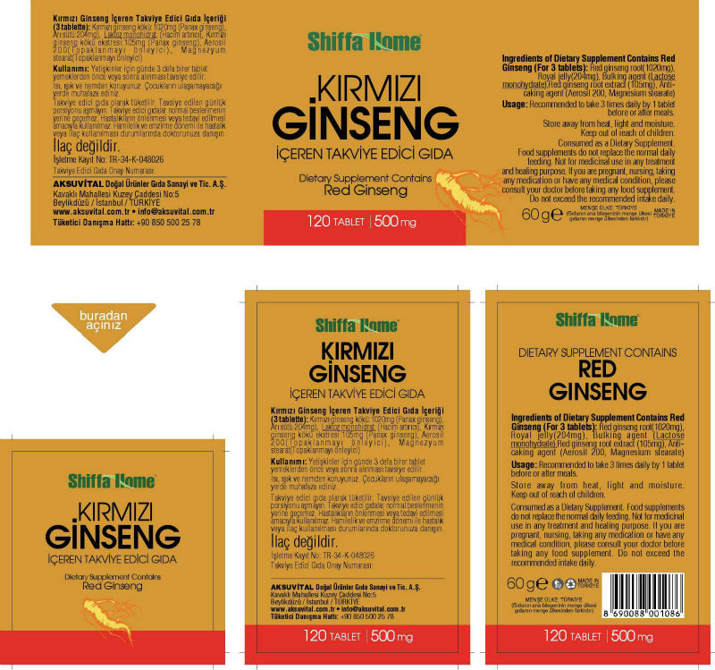 Red Ginseng 120 Label