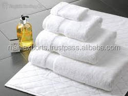 100% cotton whilte terry towels for hotels with high quality