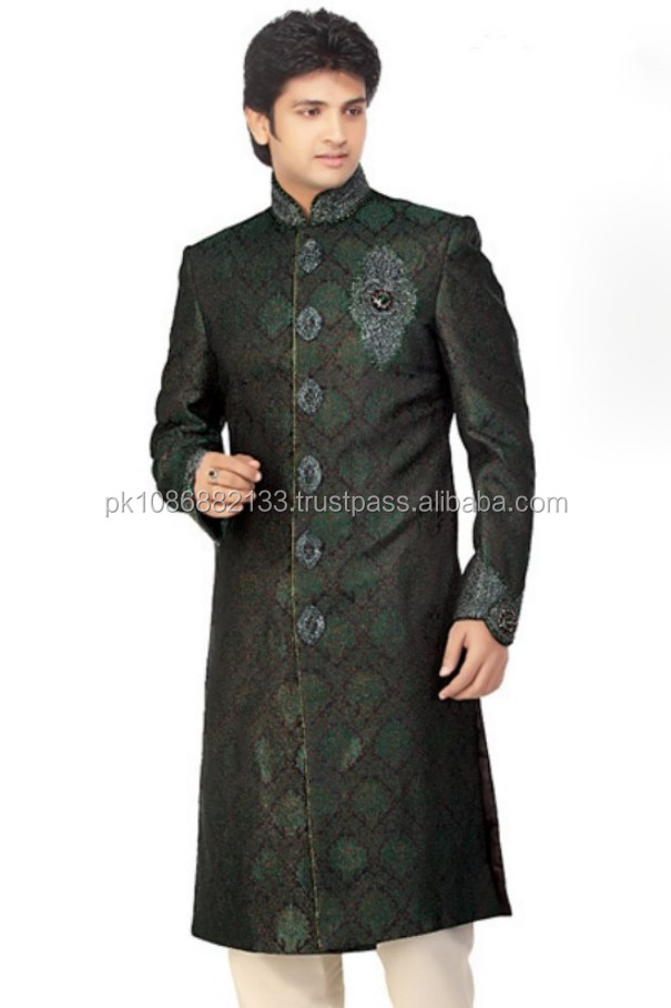 Latest Sherwani Style Mens Shalwar Kameez Suits High Quality Fashion Mens Kurta Kurta And Shawar