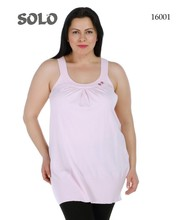 large size light pink color women's tunic