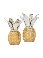 Silver Brass piña candelabros