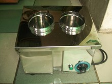 TWO ( 2) HOLES SILVER CADDY - SPOON AND FORK STERILIZER