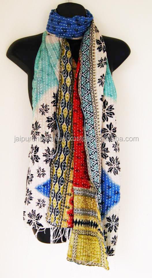 buy stylish kantha wrok scarf stole wholesale price