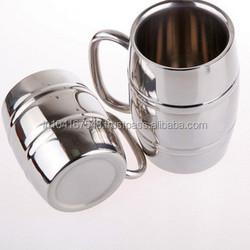 barrel copper mug ,barrel shaped stainless steel beer mug , custom logo etched ideal for promotion