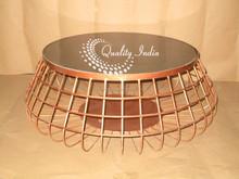 Copper Color Metallic Mash Coffee Table