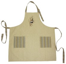 Cotton embroidered apron