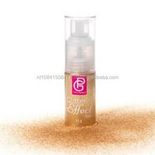 Pink Glitter Effect Gold Spray