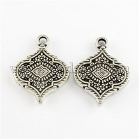 Antique Silver Acrylic Pendants with Special Pattern, 50.5x37.5x6mm, Hole: 4.5mm; about 92pcs/500g PACR-R218-62AS